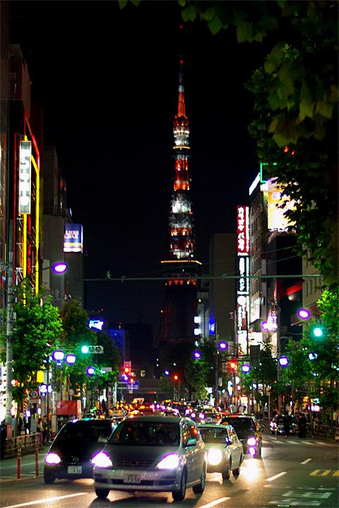 Tokyo Tower Roppongi at night