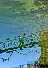 The Next Stage (ramparts54) Tags: bridge reflection water person ramp rocks pugetsound kingcounty blueribbonwinner interestingness48 i500 mywinners impressedbeauty superbmasterpiece cityofdesmoinesmarina