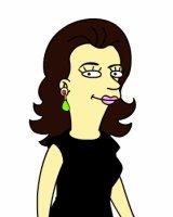 Julia als Simpson