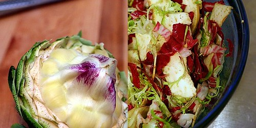 radicchio frisee artichoke salad