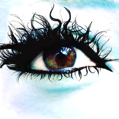 Ventana de mi alma (marce_garal) Tags: hairy black color eye photoshop aqua eyelashes shapes explore brushes squared garal