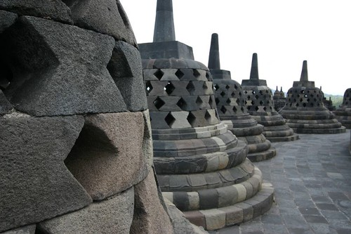 Borobudur Temple, NW of Yogyakarta, central Java.