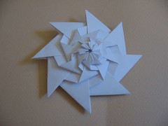 Stacked Throwing Stars (origami_madness) Tags: origami chrispalmer 折り紙 flowertower