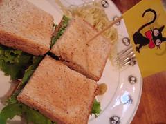 三鷹の森ジブリ美術館 カフェ麦わらぼうし くいしんぼうのカツサンド