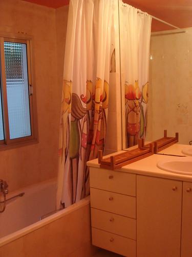 粉紅色的浴室喔