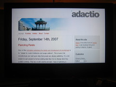 Adactio on the Wii