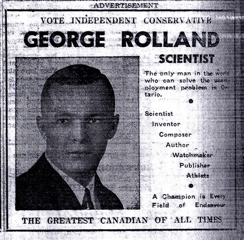 Vintage Ad #374: Your Humble Candidate for MPP