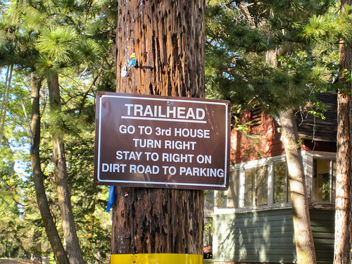 Possibly The Most Detailed Trailhead Direction Road Sign I Have Seen. Ever.