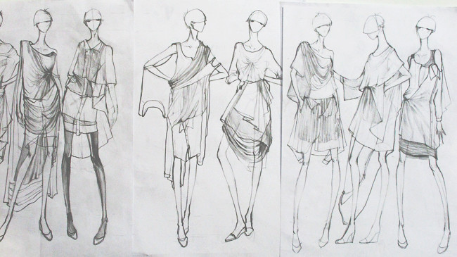 Rough Fashion Sketches First Rough Sketches of 'that