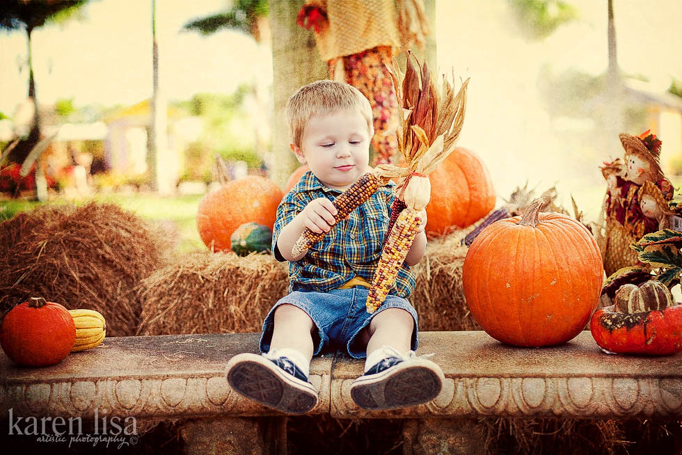 pumpkin patch portrait