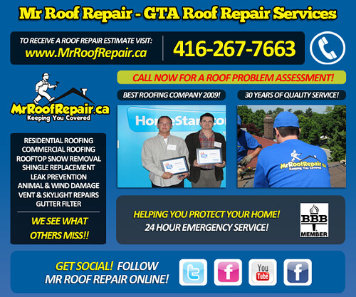 Mr Roof Repair Toronto Roofing Company by MrRoofRepair.ca