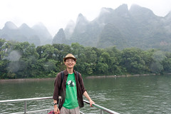 Me on the Li River in Guilin