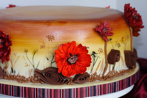 Fall flowers cake0025