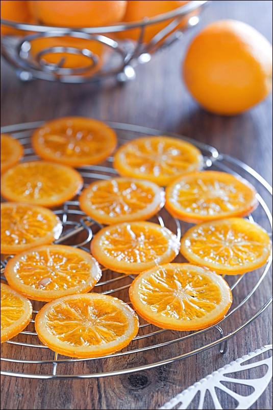 Naranjas confitadas bañadas