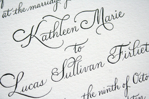 Classical Calligraphy Wedding Invitation Wedding invitations