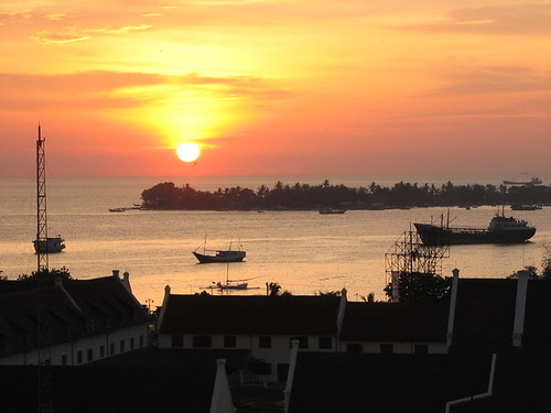 Sunset view dari fort rotterdam Makassar