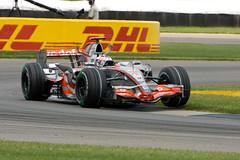 USGP 2007 - Fernando Alonso Curb-Hopping