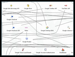 Googleサービスを視覚化したマップGoogle Product Connections Map