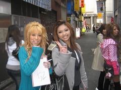 Gyaru or kogal girls (Sakena) Tags: tokyo shibuya ganguro yourfavorites canonixus50
