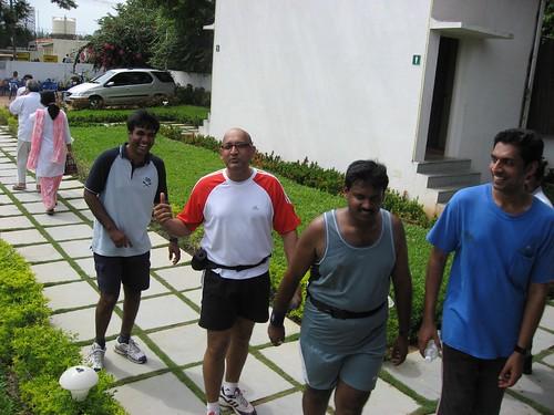 Kiruba, Suprathik, Rajesh & Sundar arriving at Coral Surf Restaurant