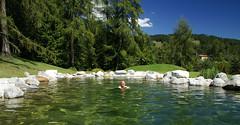 Und nach dem Wandern ... (ahoihamburg) Tags: tirol schwimmen bergsee msern