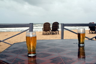 Beers and Chairs at Baga Beach
