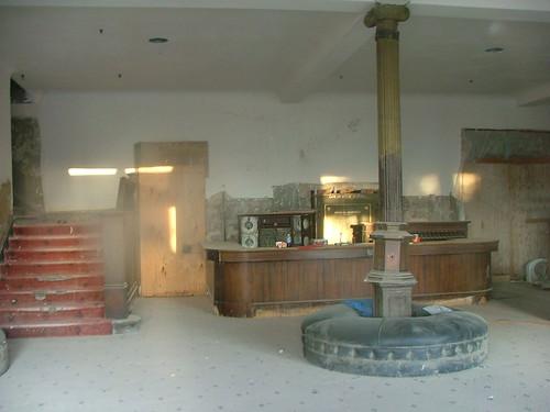 hotel lobby desk. Front lobby desk. Goldfield Hotel, Goldfield, NV.