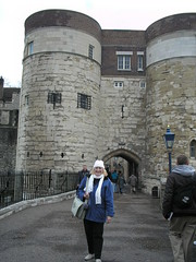 In front of  Byward Tower - Tower of London (3/19/07)
