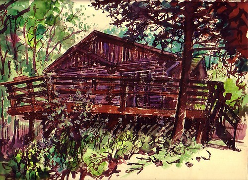 our cabin http://sketchoftheday.blogspot.com/
