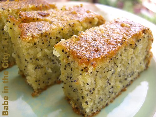 Orange Poppy Seeds Cake