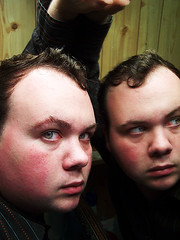 Me and the mirror (Exotine) Tags: wood boy people man reflection male guy adam eye face shirt mouth hair nose person mirror eyes arm skin naturallight wethair natual adamlecroy adamwlecroy fixedhair