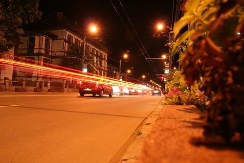 targu-jiu noaptea strada unirii