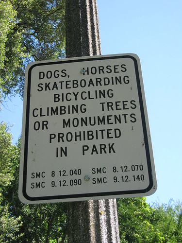funny biz. no funny biz in the park! I don#39;t think I#39;ve ever seen a sign prohibiting