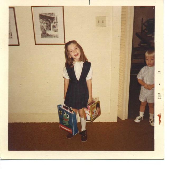 Bessan's First Day of School - September 1971