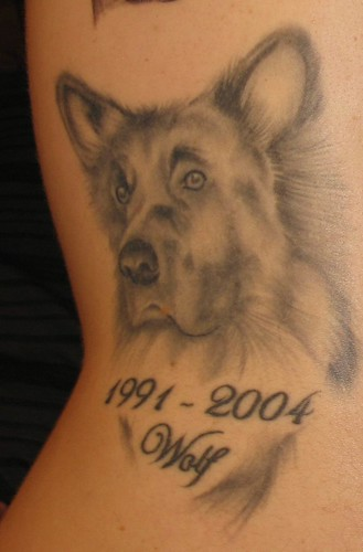 Labels Dog Tattoo
