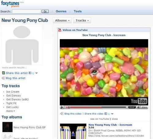 Foxytunes video sharing on facebook