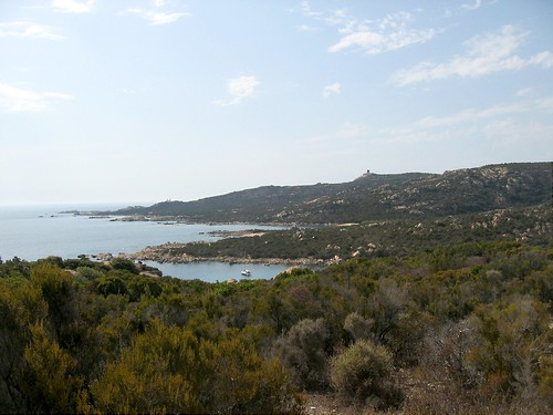 Côtes N de Tizzà vers le phare et la tour de Senetosa