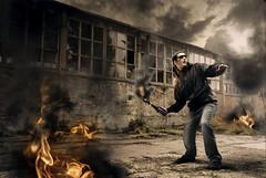 Dada (Csheemoney) Tags: lighting composite fire riot flames burning burn inferno anarchy dada hiphop belgrade bomb retouch beograd throwing serbian hoodlum molotow terorist annihilation bigboom nemanja morefire fyah vilian pesic nostrobistinfo removedfromstrobistpool seerule2 ifyoucannotstandtheheatgetoutofthekitchen bassivity