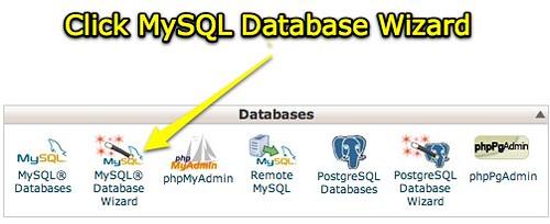 cPanel X - MySQL Database Wizard