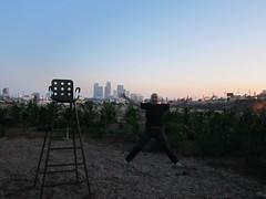 The Cornfield Park at Sunset June 2010 (74) (calvinfleming) Tags: park sunset skyline losangeles jump jumping skyscrapers losangelesskyline cityskyline downtownlosangeles laskyline thecornfield downtownlosangelesskyline californiastatehistoricpark downtownlaskyline
