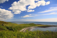 St Medans Golf Club (jillyspoon) Tags: sea beach clouds golf coast view horizon golfcourse solway galloway irishsea golfclub machars solwayfirth polarising monreith flickrduel stmedans