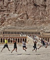 Hatshepsut Temple (Ash Lourey) Tags: africa hot temple jumping sand ancient egypt tourist luxor hdr hatshepsuttemple deirelbahri ashleylourey