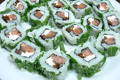 Sushi y San Pedro de Yacochuya Torrontés