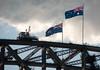 Top of the Bridge (deltaMike) Tags: city iso200 top flag australia schnivic sydneyaustralia sydneyharborbridge focallength200mm nikond90 102510 deltamike lens18200mmf3556 flashstatusnoflash exposure1800secatf63 dsc7438nef
