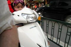 Motobike portrait - the shy girl (kerolic) Tags: life street portrait girl shy vietnam hanoi motobike