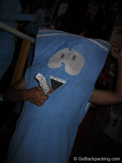 I don't watch South Park, but Mike informed me this is the Towlie character - a towel that does cocaine.