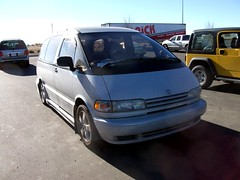 white toyota van minivan custom import jdm rhd estima bodykit previa