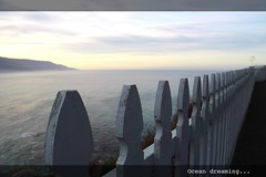Ocean dreaming... (Dss) Tags: ocean california trip travel usa america fence landscape coast experiments view pacific unitedstatesofamerica bigsur dreaming lucia romantic mygearandmepremium