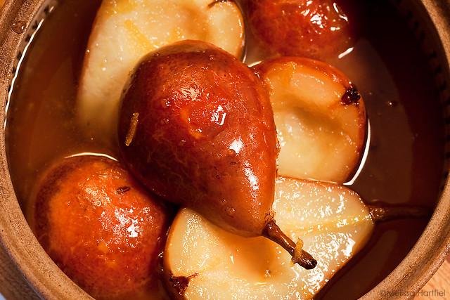 Glazed Orange Pears