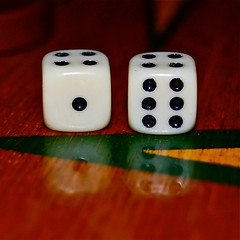 seeing double (figaE phoTography) Tags: dice game macro board backgammon figae